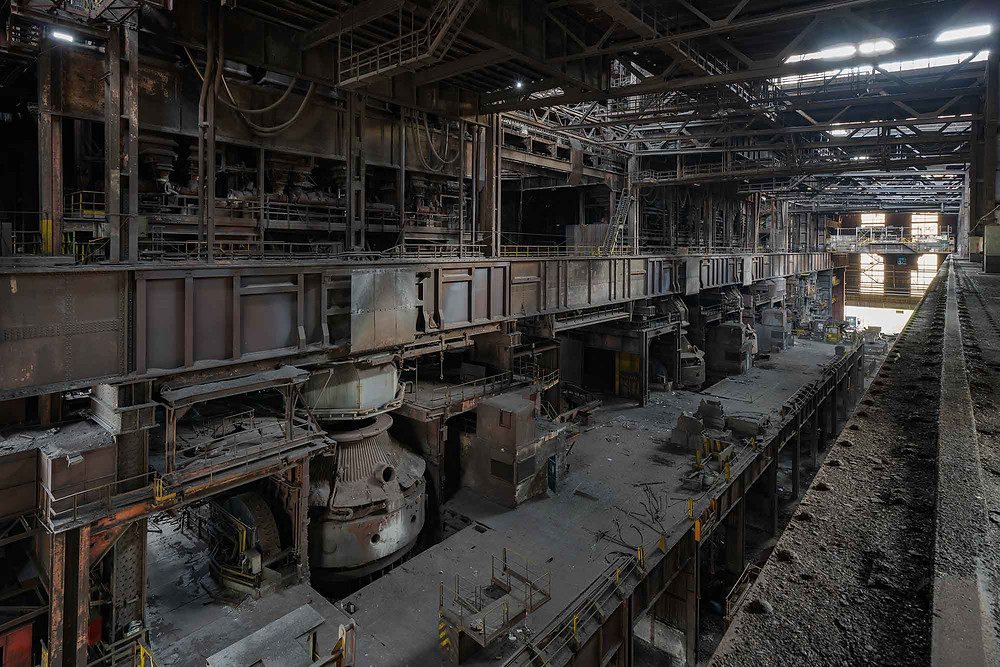 BOF converters on abandoned steelworks in Belgium