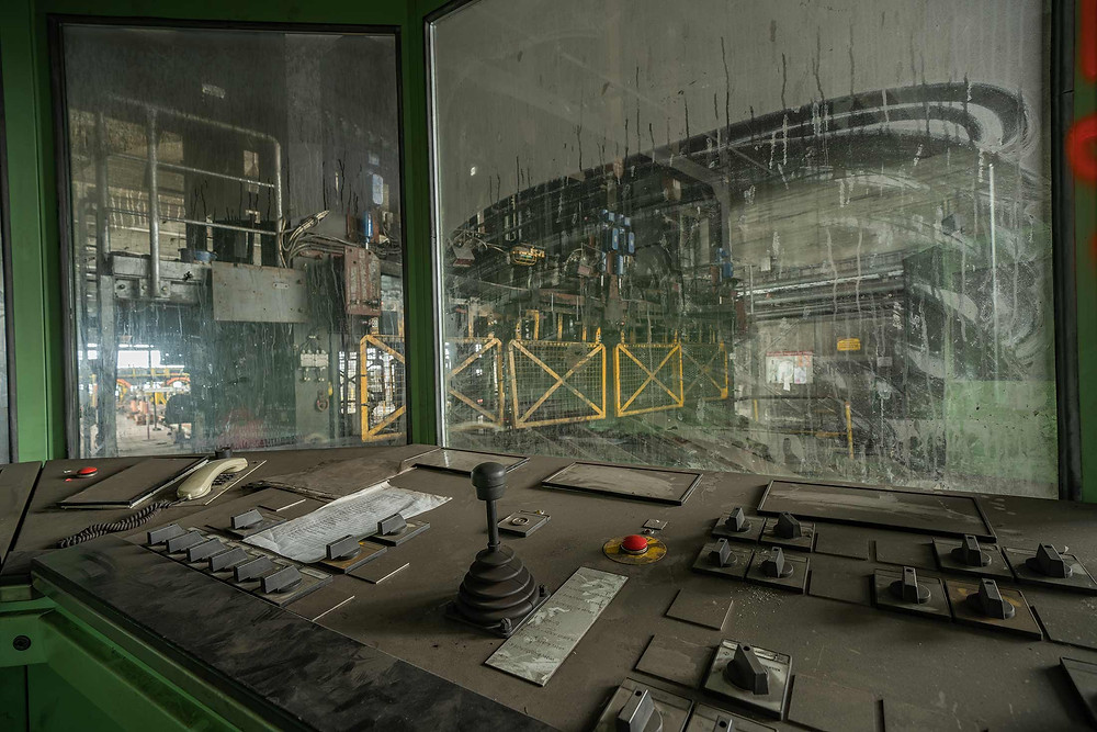 Control room for the mine carts
