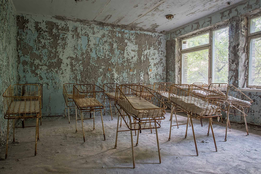 Chernobyl hospital children beds