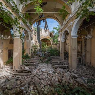 Earthquake church: Beautiful decay