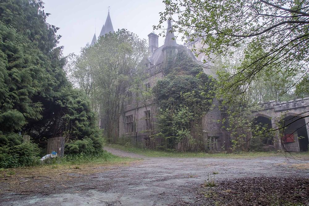 Abandoned buildings at chateau Miranda