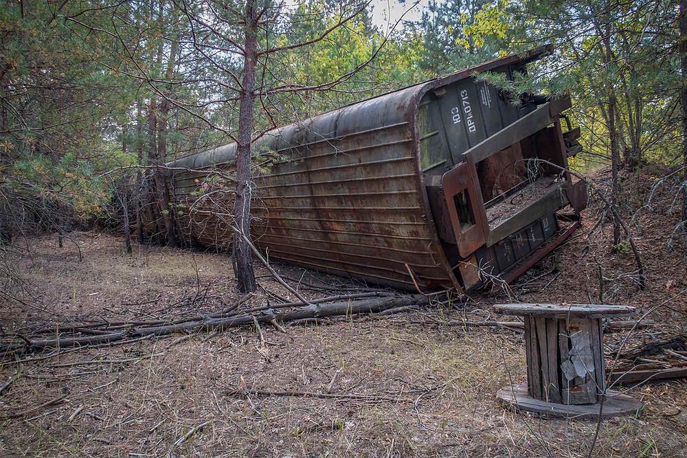 Train in Chernobyl