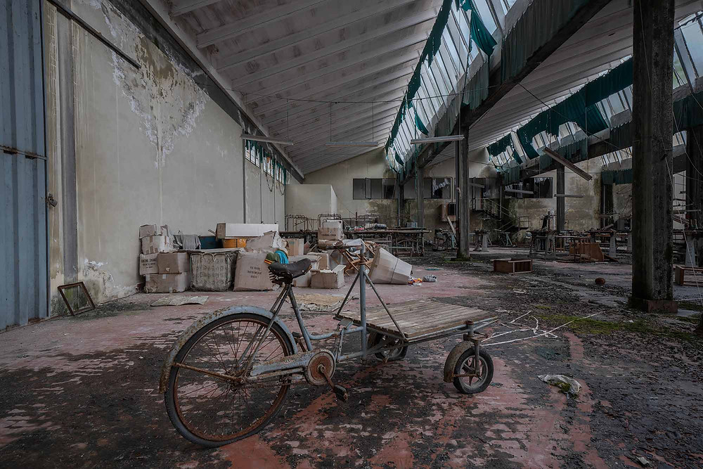 Abandoned factory floor in Italy