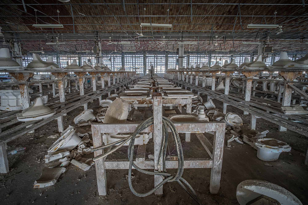 Moulds at abandoned fatory
