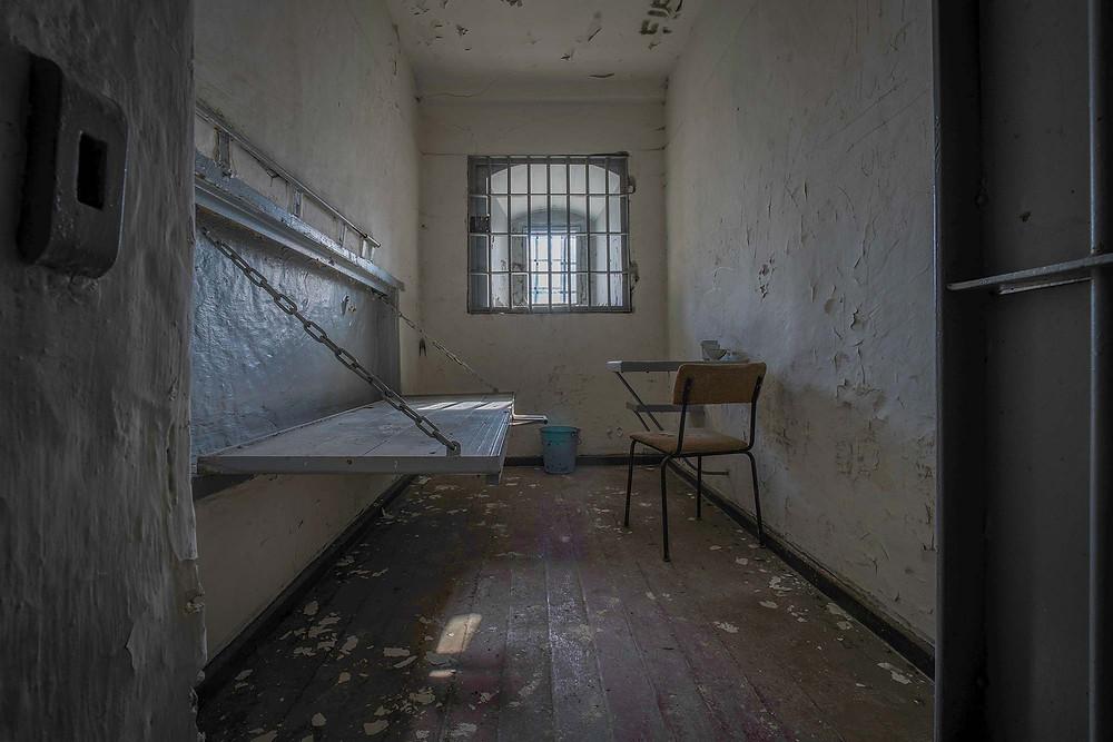 Forladt fængselscelle i Tyskland