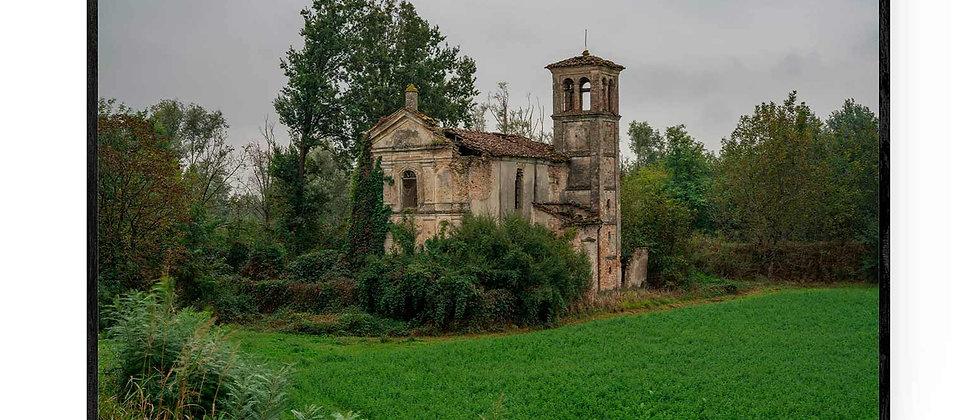 Fotokunst print af Chiesa Rigosa i 75x50 med sort ramme
