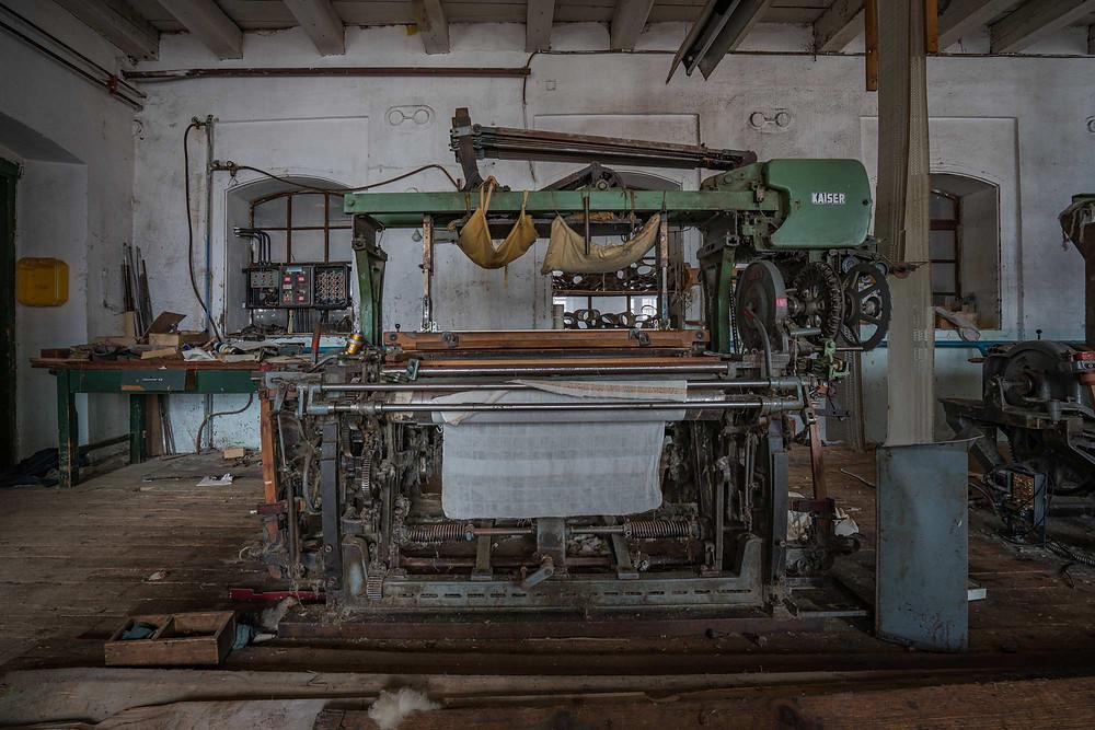 Abandoned clothing factory