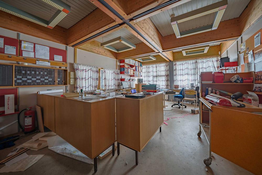 Janitors office abandoned school in Denmark