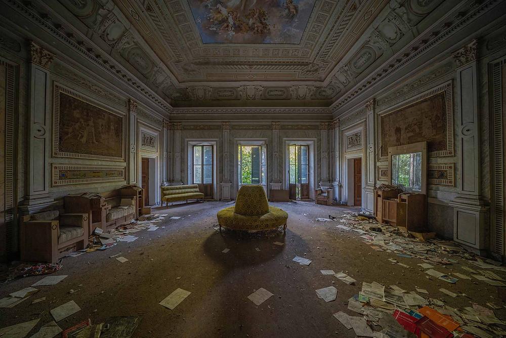 Den forladte Villa Pavone