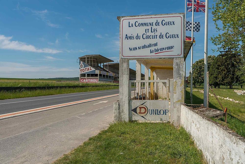 Abandoned racetrack Circuit de Reims Gueux