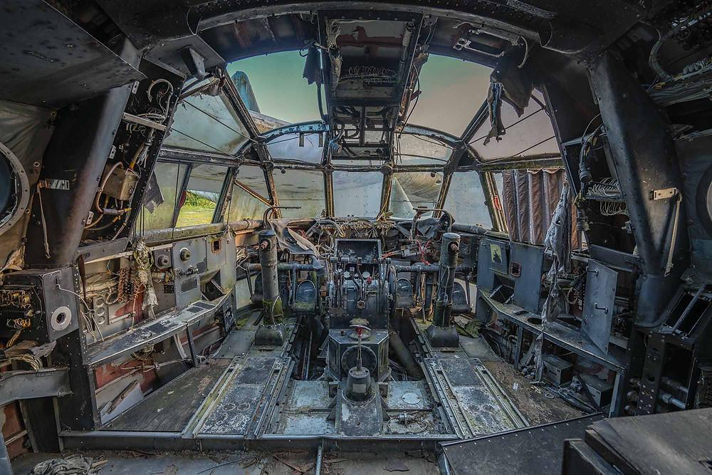 Abandoned Nord Noratlas cockpit