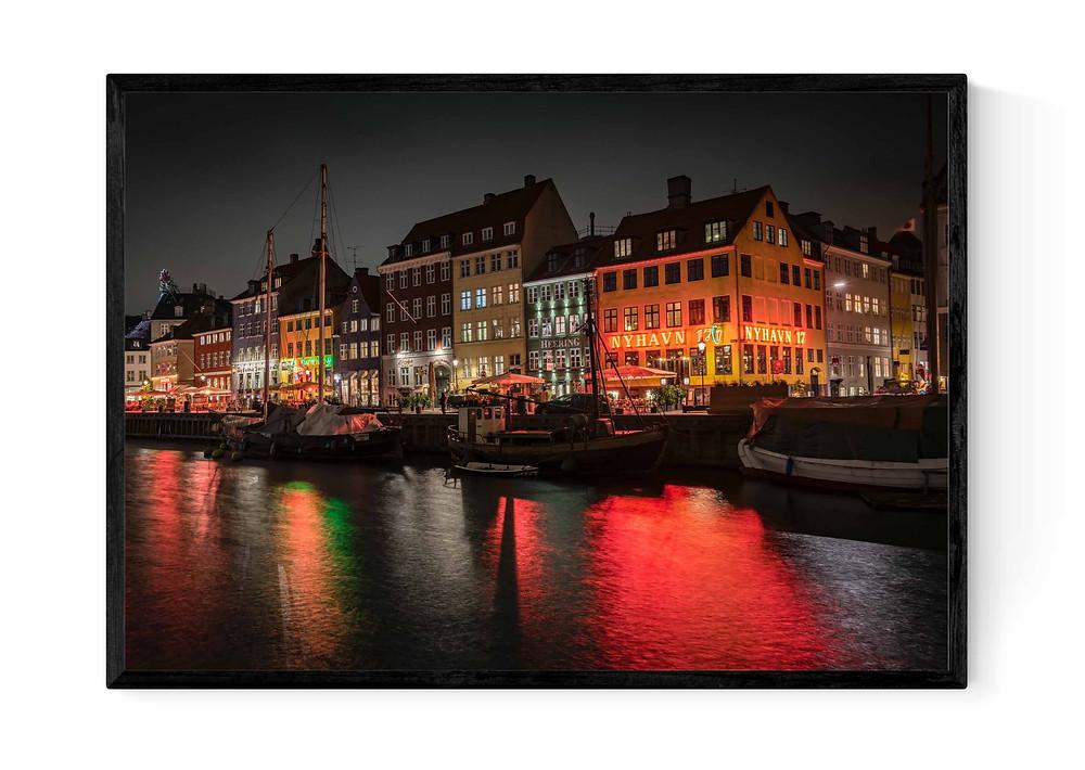 Fotokunst af smukke Nyhavn