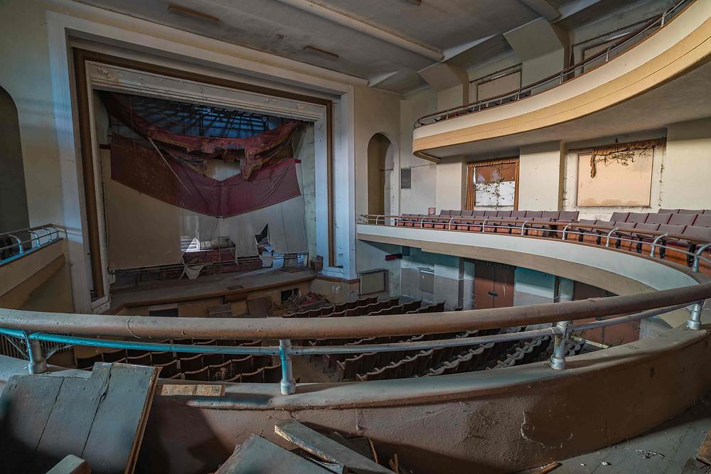 Beautiful abandoned theater