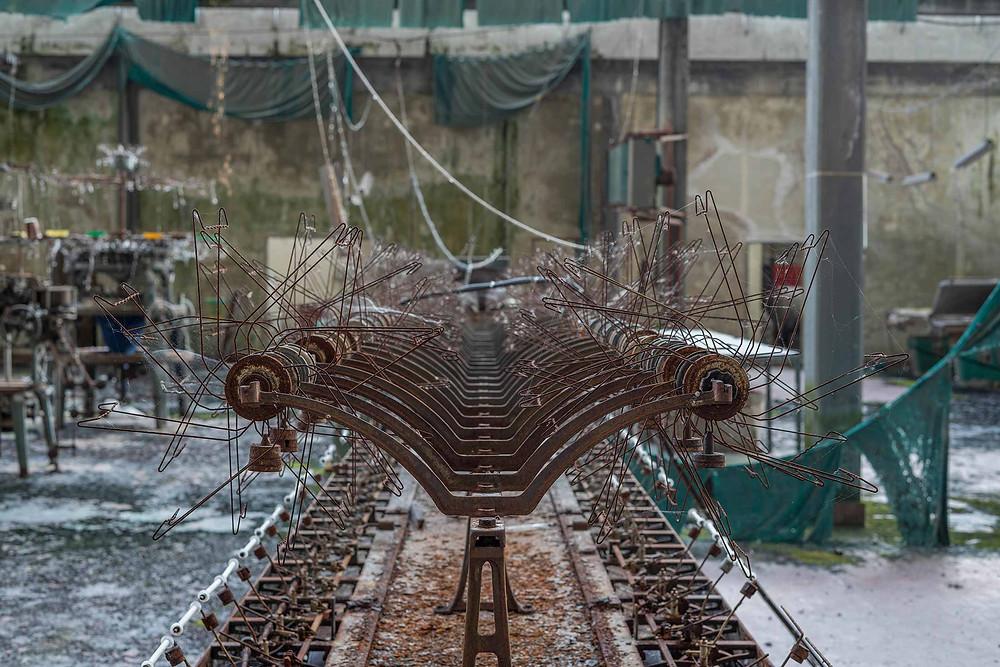 Natural decay at abandoned knitting factory