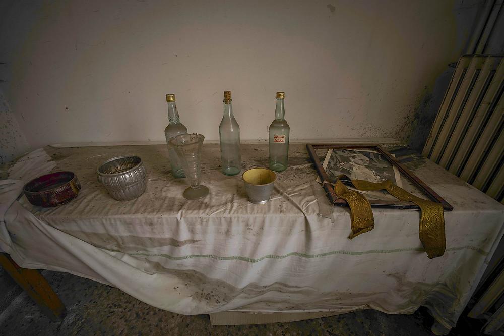 Interior at abandoned church Sisters of Decay