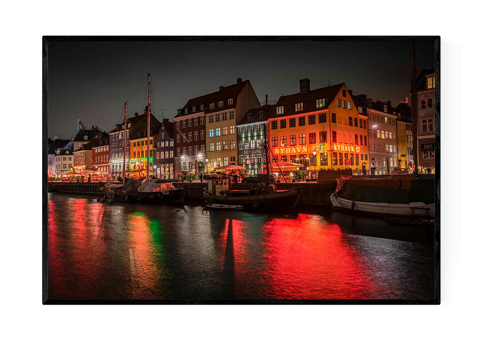 Photographic art of Nyhavn