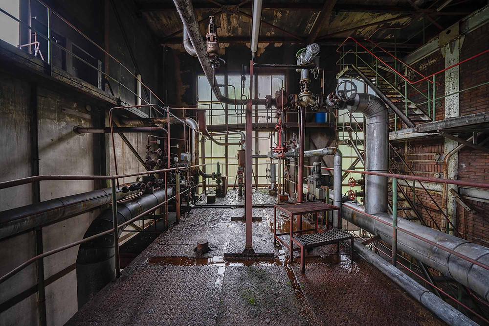Lots of decay at abandoned power plant