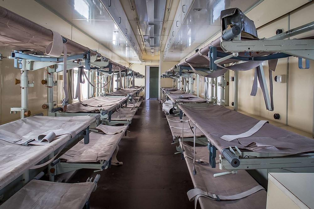 Abandoned DDR katastrophenzug beds