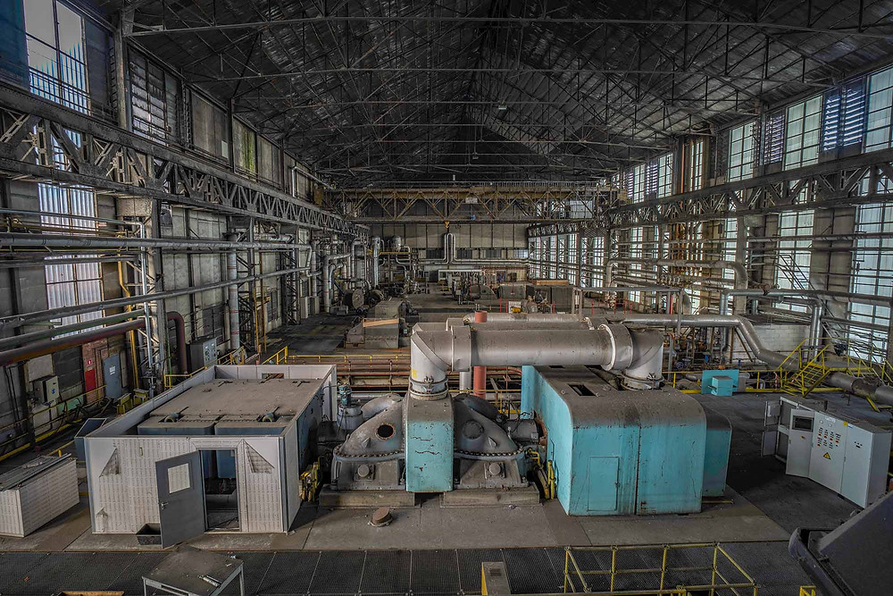 Overview of an abandoned turbinehall