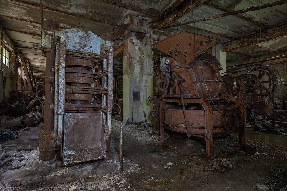 Produktionsmaskiner på chokoladefabrik