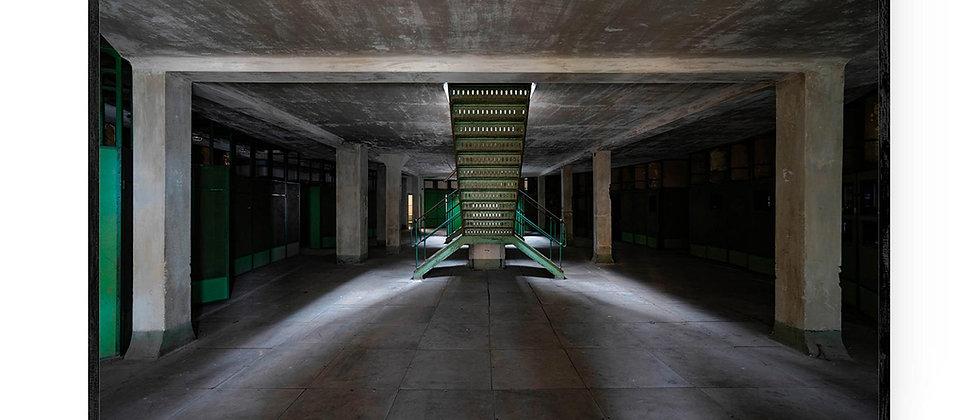 Fotokunst print af Stairway to... i 75x50 med sort ramme