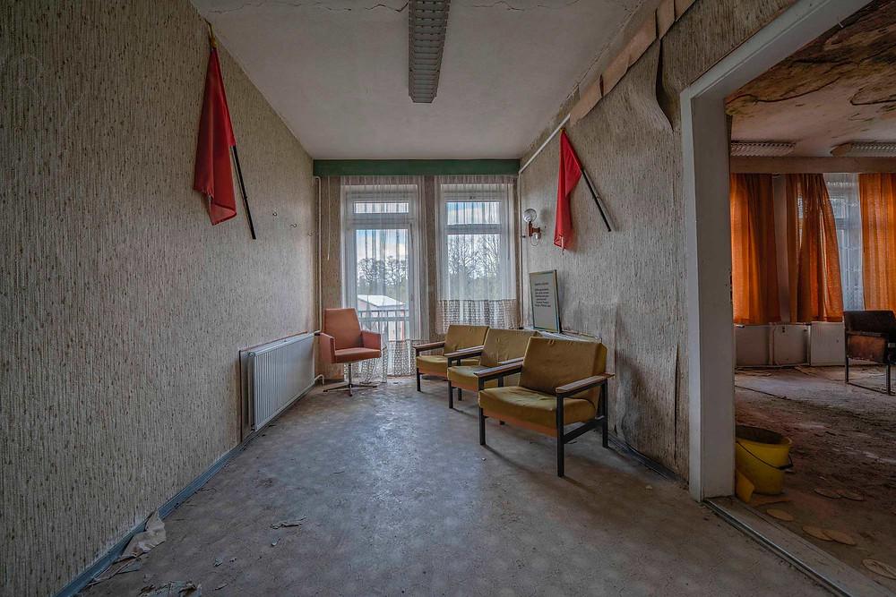 Forladt forsamlingshus i lille tysk by