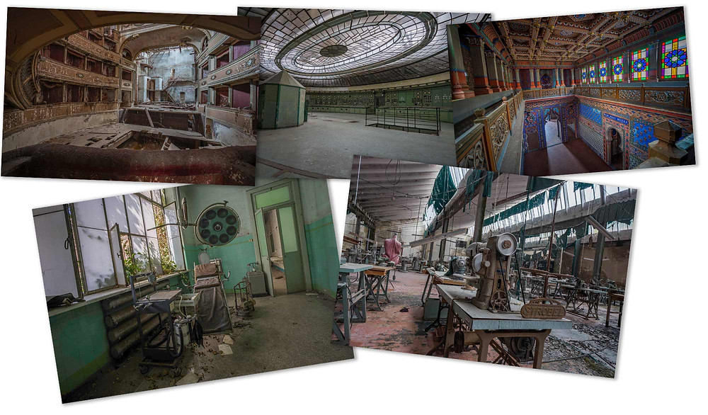 Collage of 5 top abandoned places