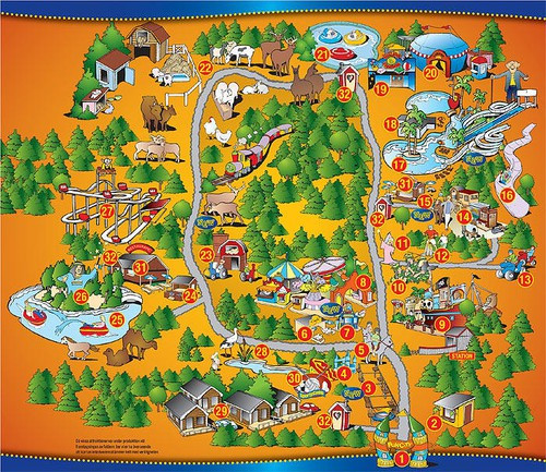 Kort over Fun City Varberg