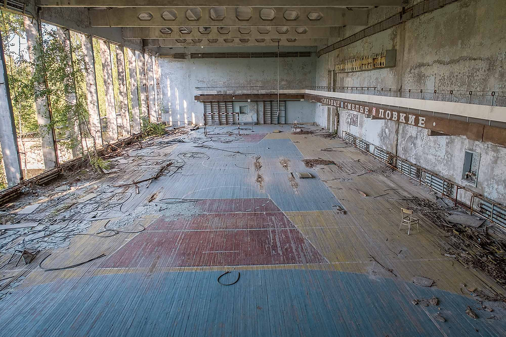Gym hall in Chernobyl culture house
