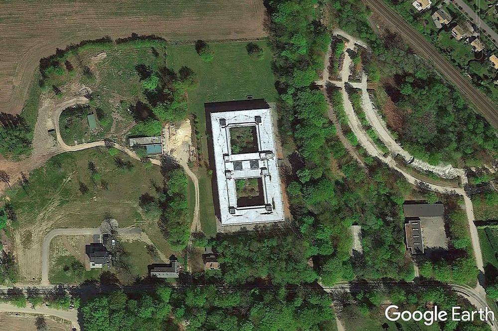 Google maps kort over den forladte Forsvarskommando