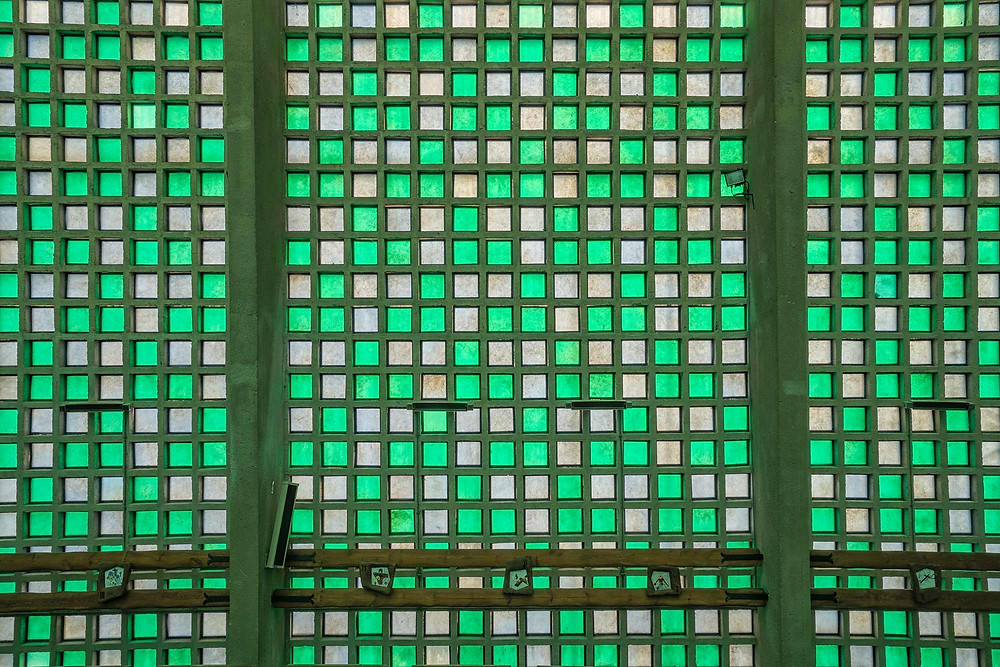 ET Church farvede glas
