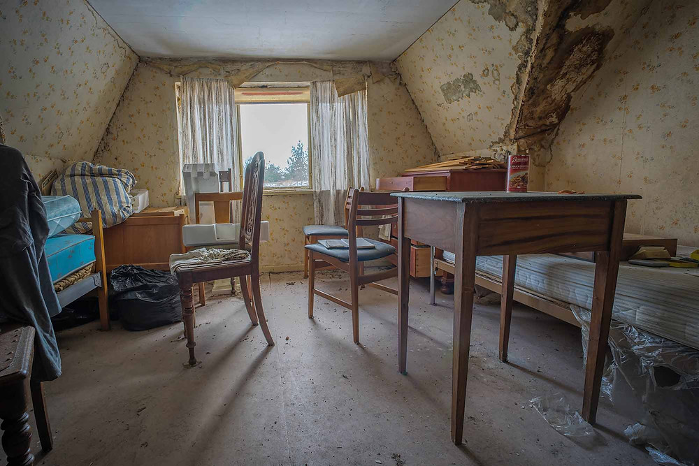 Decay starting to appear at abandoned farm in Denmark