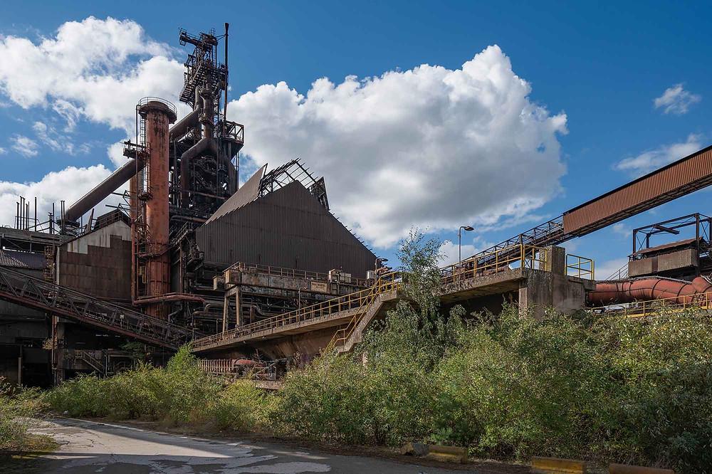 Abandoned blast furnace at HFB in Belgium