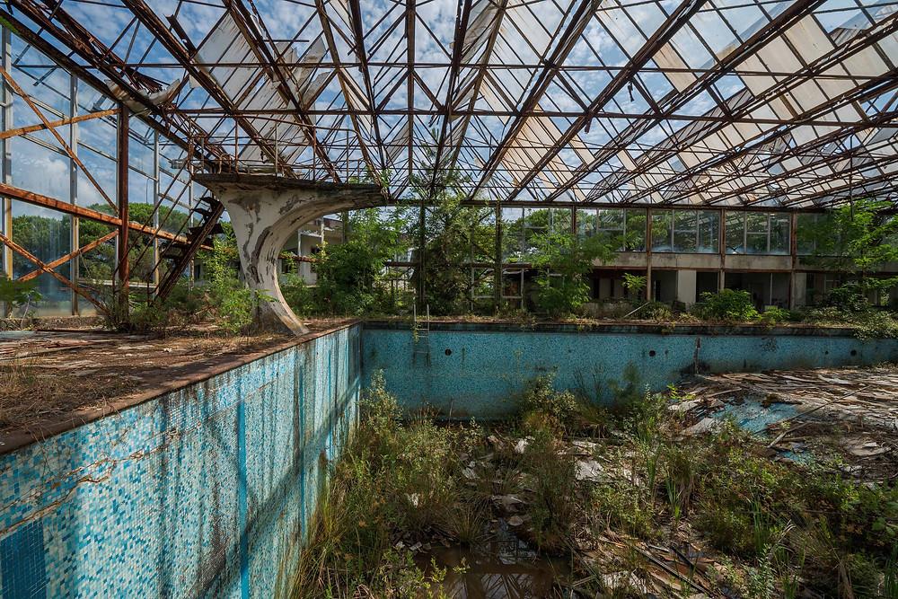 Natural decay at this beautiful swimming pool