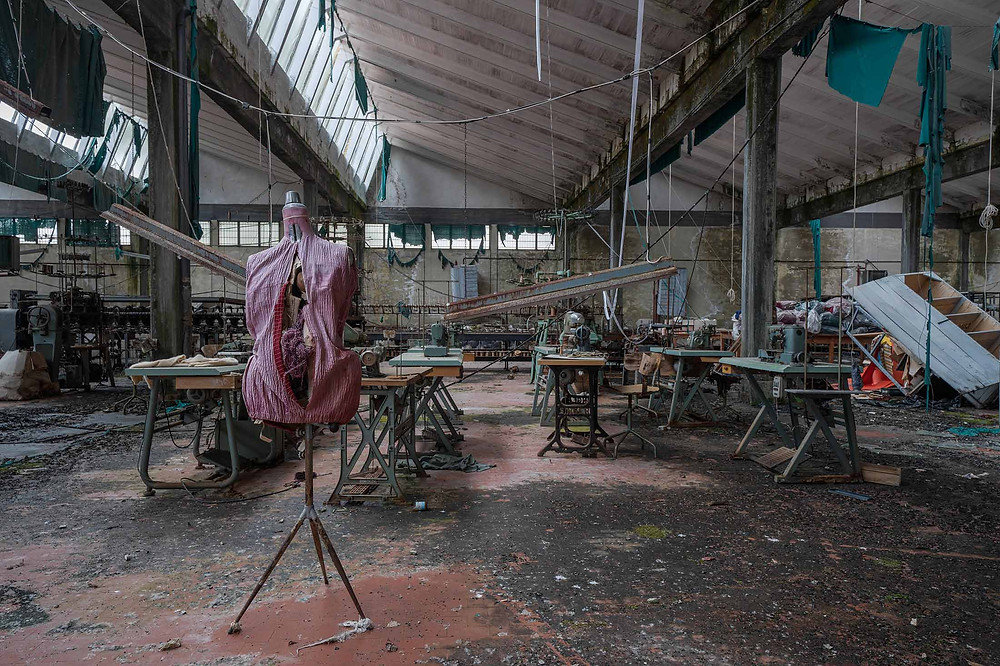 Abandoned knitting factory in Italy