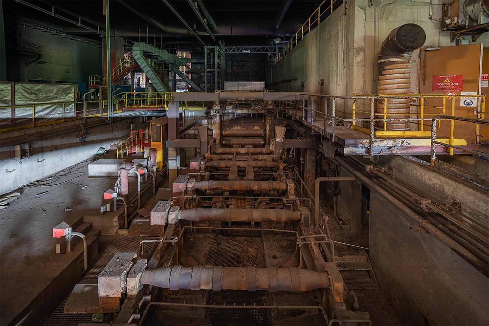 Maskine til kontinuerlig støbning på stålværk
