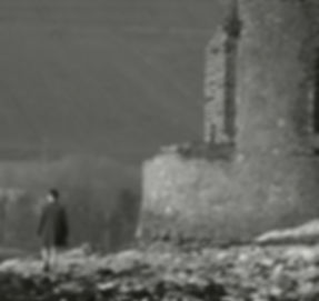 A Still of Band-Member Ciarán Ruby taken from the Video for his composition 'Rostellan Wood.' 9.5K views on Facebook.'