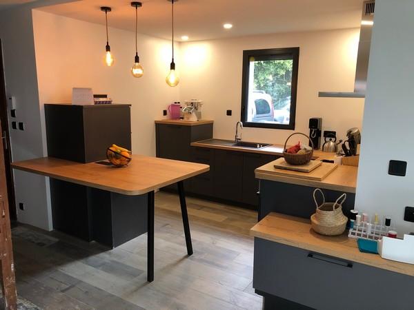 aménagement d'une cuisine ouverte sur salon