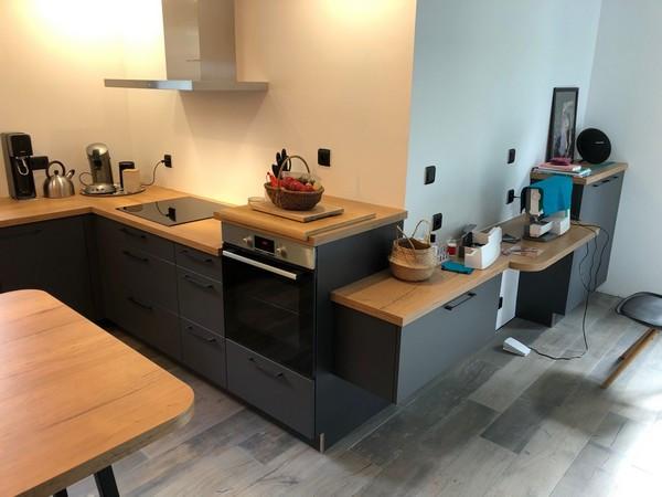aménagement d'un coin couture dans la cuisine