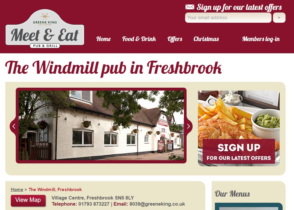 Windmill Pub Freshbrook Swindon