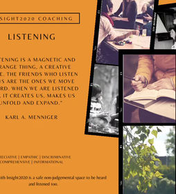 A reflection on listening