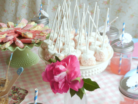 A vintage baking birthday party