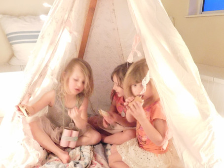 Glamping Birthday Party for a 4 year old Girly Girl