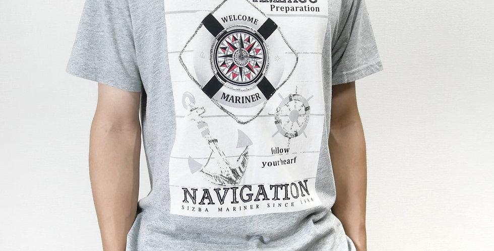 [数量限定] 半袖 グラフィックTシャツ コンパス