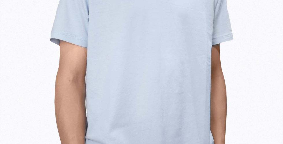 半袖無地TシャツBlue