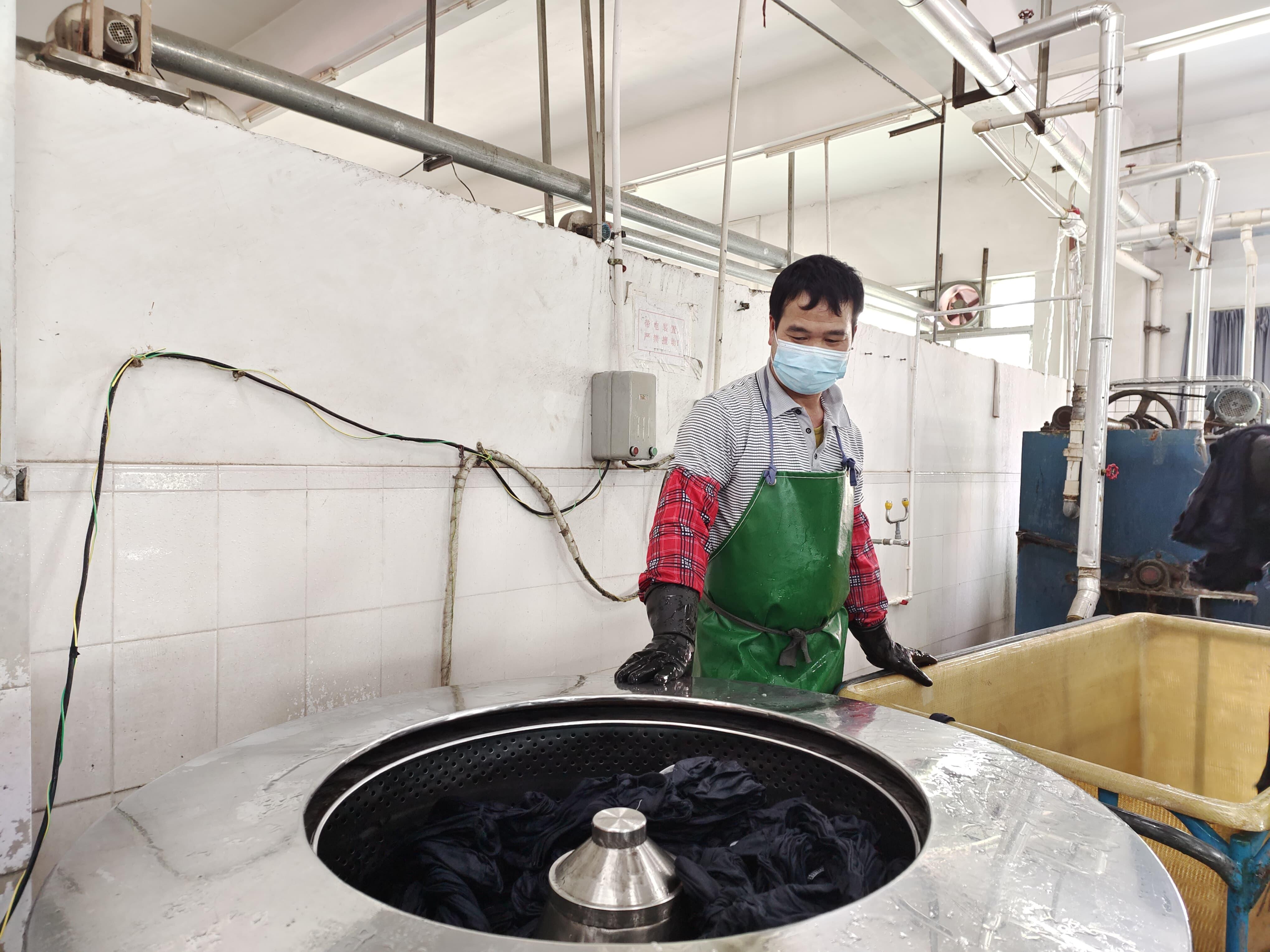 自社洗い加工室