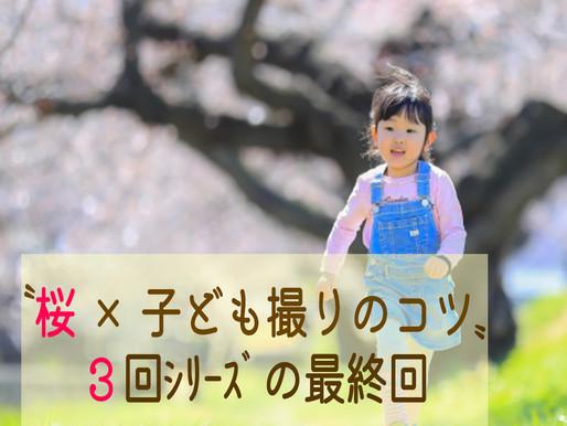 """""""桜×子ども撮り3つのコツ""""3回シリーズ最終回"""