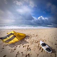 Stage kitesurf dans les vagues en Galice