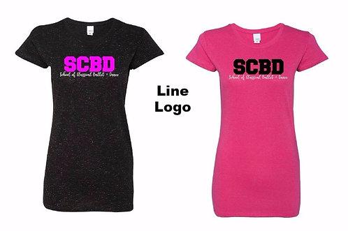 SCBD glitter fitted tshirt