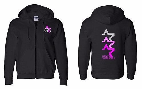 GS Youth Black Zip Up Hoodie
